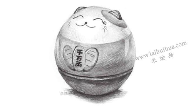 储蓄罐素描画法