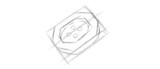 扣子素描画法步骤03