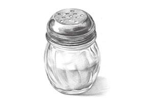 玻璃调味瓶素描画法步骤