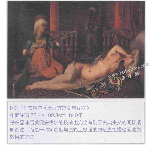 安格尔《土耳其宫女与女奴》
