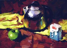 三个物体的组合水粉画法步骤(五)