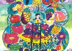 《绿色家园》儿童科幻画作品