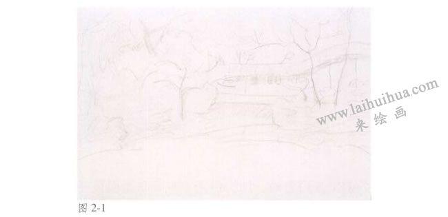 《拙政园的秋天》风景水彩画法步骤01