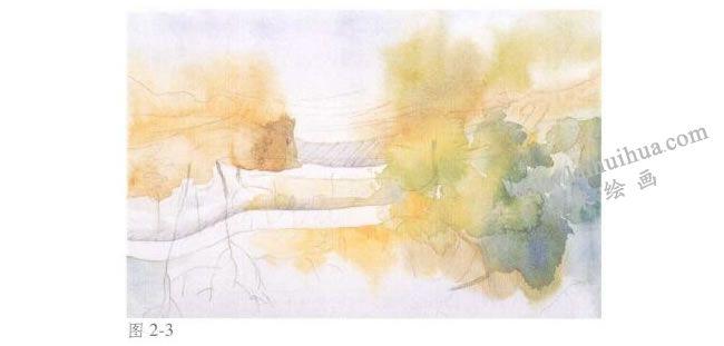 《拙政园的秋天》风景水彩画法步骤03