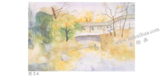 《拙政园的秋天》风景水彩画法步骤04