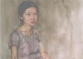 人物《女青年半身像》水彩画法步骤