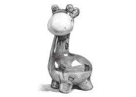 陶瓷小鹿素描画法步骤