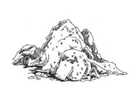 石头的速写画法