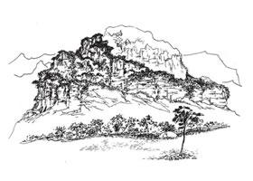 山的速写画法