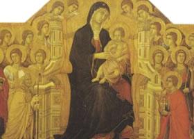 杜乔•迪•博尼塞尼亚《圣母子荣登圣座》木板蛋彩
