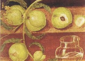 罗马壁画《有桃的静物画》