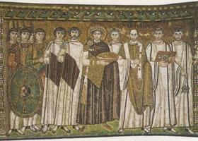 镶嵌画《查士丁尼及其随从》