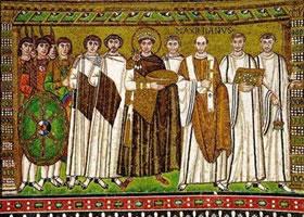 镶嵌画《皇后提奥多拉和女官》