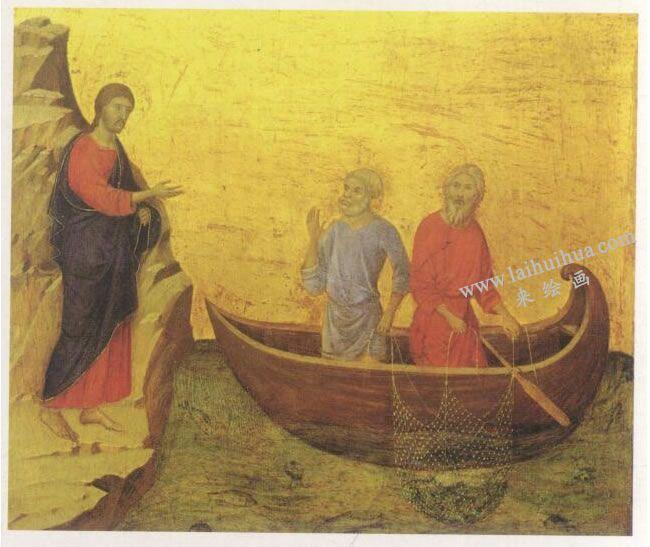 名画《召唤使徒彼得和安德烈》