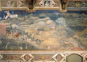 《好政府的寓言》世俗壁画