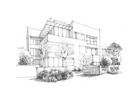建筑速写构图的方法