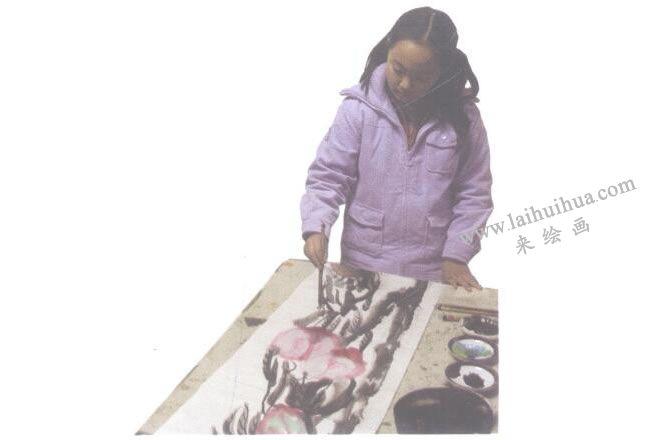 儿童水墨画画毡、镇尺、笔架