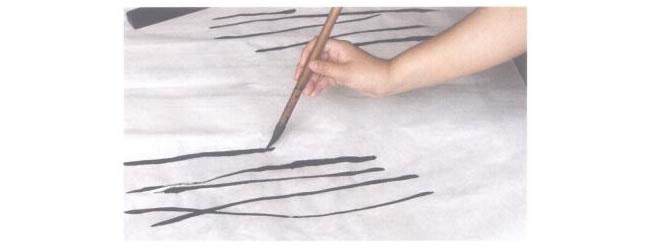 水墨画中锋运笔