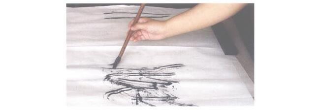 水墨画散锋运笔
