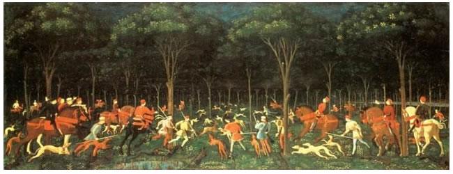 保罗•乌切洛《林中狩猎》完整图