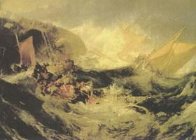 透纳《商船遇难》名画