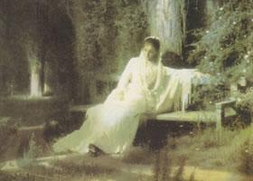 克拉姆斯柯依《月夜》名画