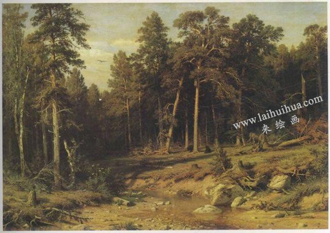希施金《松树林》名画