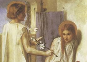 但丁•加布里埃尔•罗赛蒂《受胎告知》名画