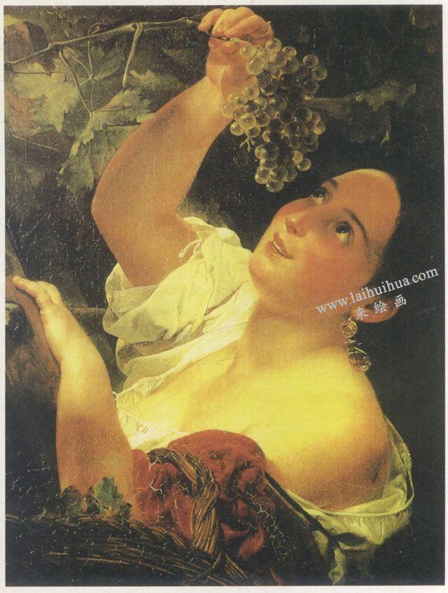 勃留洛夫《意大利的中午》名画