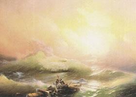 艾伊瓦佐夫斯基《九级浪》名画