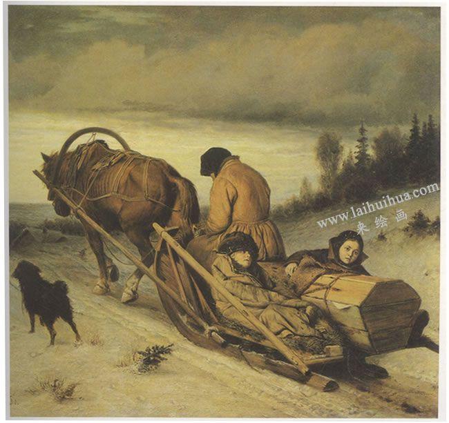 彼罗夫《送葬》名画