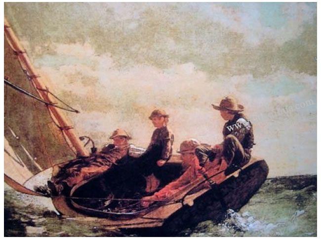 温斯洛•霍默《起风了》名画