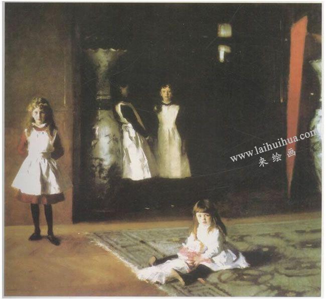 辛格•萨金特《波依特的四个女儿》名画