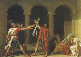 大卫《荷拉斯兄弟之誓》名画