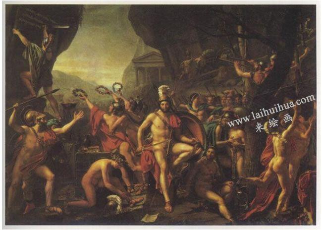 大卫《雷奥尼达在温泉关》名画