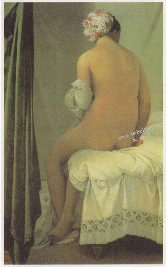 安格尔《瓦平松的浴女》名画