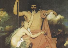 安格尔《朱庇特与忒提斯》名画