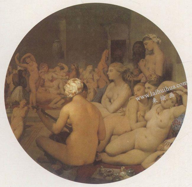 安格所《土耳其浴室》名画