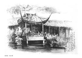 传统建筑的素描画法