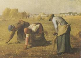 让•弗朗索瓦•米勒《拾穗者》名画