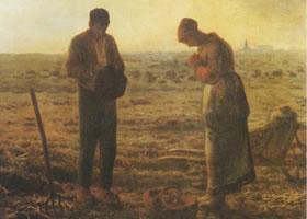 让•弗朗索瓦•米勒《晚钟》名画