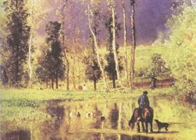 康斯坦•特罗扬《暴风雨将临》名画