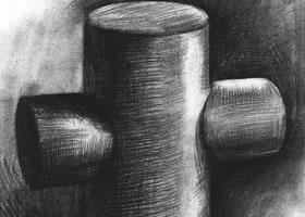 十字圆柱体的素描画法步骤