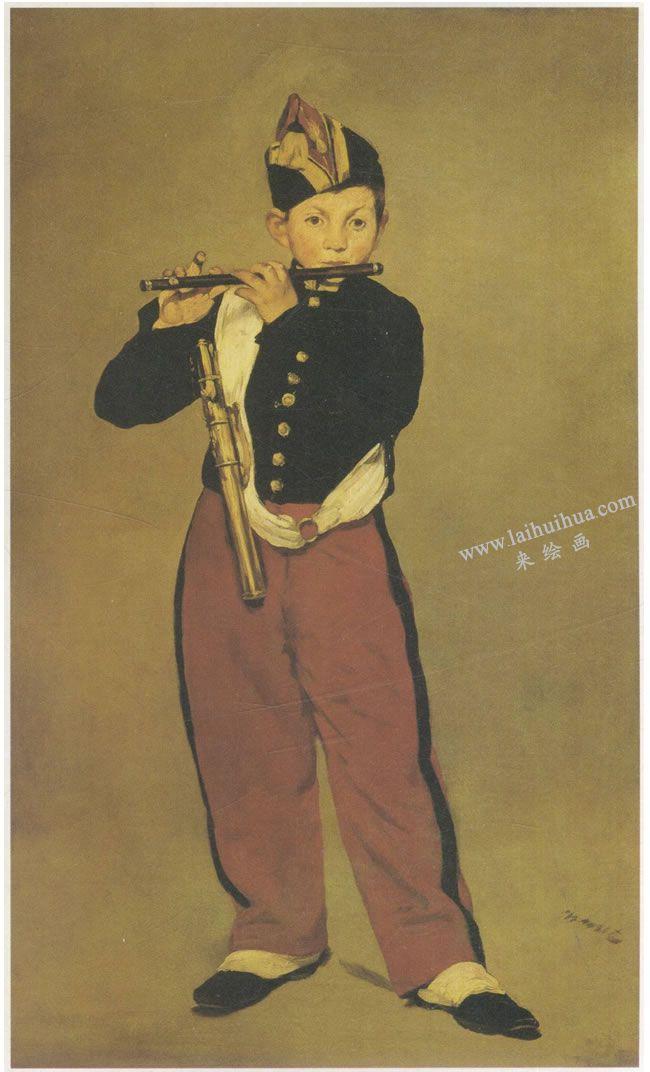 爱德华•马奈《吹笛的少年》名画