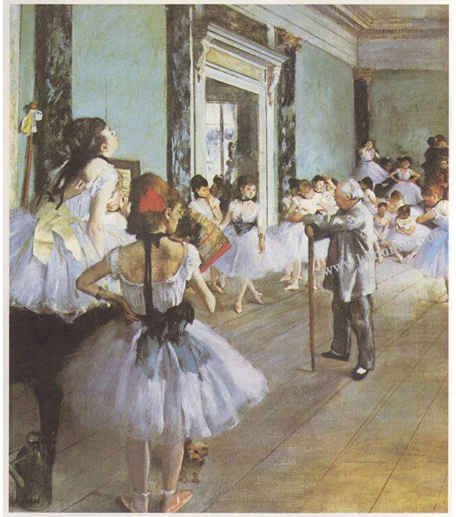 埃德加•德加《舞蹈课》名画