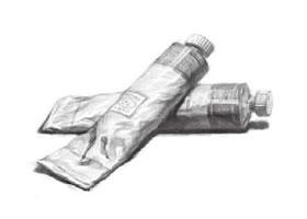 铝管颜料素描画法步骤