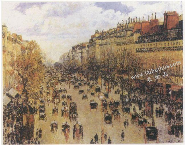 毕沙罗《蒙马特尔大街》名画