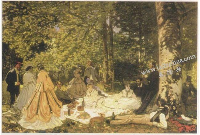 克洛德•莫奈《草地上的午餐》名画