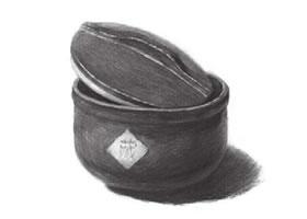 深釉瓷罐素描画法