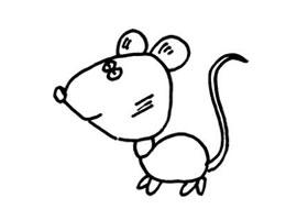 老鼠儿童画法